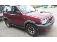 Breaking red nissan terrano swb diesel 4x4 parts