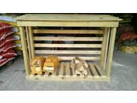 Logs wood storage garden shed