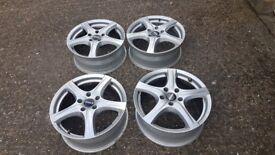 "4x 17"" Ronal R42 5x114.3 Toyota Lexus Lucida Nissan Elgrand Mazda Alloy Wheels 4087"