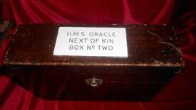 WW1 H.M.S Oracle next of kin box