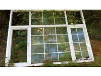 Used UPVC double glazing windows (complete set - glass and frames included))