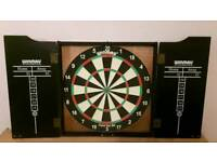 Winmau dart board and surround