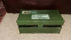 Vintage action man storage box