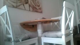 argos table and four modern chairs