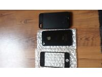Iphone 4 screen and back and iphone4/4s case never used