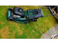 Atco Admiral Petrol Lawn mower 3.5 hp garden grass cutting Qualcast