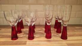 6x Wine glasses + 6x Champagne Flutes
