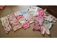 Baby Girl large bundle of clothes. Aged 0-3 months and up to 3 months