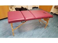 Massage table, portable, excellent condition.