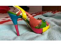 Multi coloured (size 6) high heels