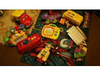 Toy bundle musical piano book car