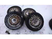 Renault traffic, VAUXHALL vivaro set of 4 steel wheels with very good tyres 195/65-R16