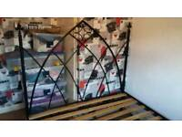 Ornate metal double bed frame