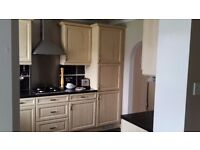 Used Kitchen units, gas hob, fridge, extractor, sink & taps