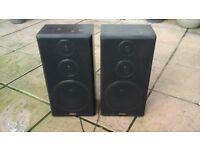 """Pair of Speakers - Aiwa - H19"""" x W10"""" x D7""""."""