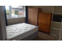 Double room in quiet house for single use