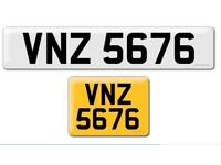 VNZ 5676 private cherished personalised personal registration plate number Thank