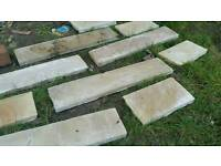 Natural stone coping stones