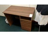 Desk with pedestal