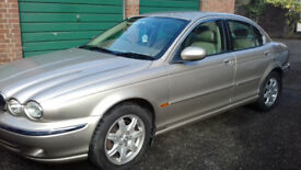 2OO1 JAGUAR X TYPE AUTOMATIC GOLD LEATHER TRIM AIR CON CLIMATE CONTROL 2,5 AWD 89500 M 11 MTH MOT