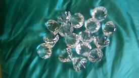 16 large plastic diamonds