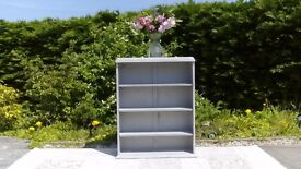 Small Vintage Bookcase. Shabby Chic, Paris Grey. Delivery available.