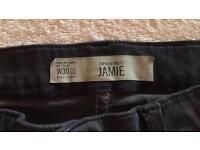 TOPSHOP Jamie jeans new w30 l32