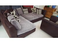 Corner Sofa & Matching Chair (DFS)