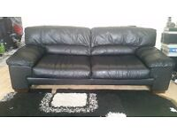 100% Real Leather Sofa and Arm chair plus cleaners