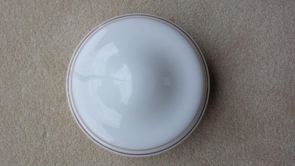 White Glass Ceiling Light (Circular)