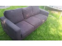 3 seater chocolate brown sofa's x 2 - FREE TO COLLECT