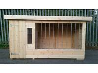 BRAND NEW DOG KENNEL AND RUN WITH GALVANISED BARS RRP £1100