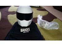 Bandit crash Helmet with black and clear visor (Not Simpson)