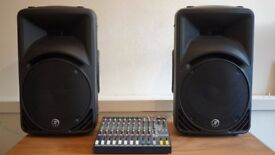 PA System (Speakers, Mixer, Stands & Cables) £500