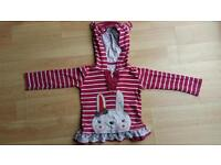 Pretty little dress with rabbit design for 18-24 mths