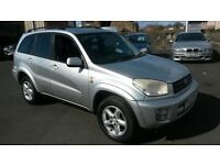 2002 52 REG TOYOTA RAV 4 NEWER SHAPE CHEAPER PX WELCOME £895