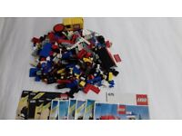 LEGO - approx 1.8kg of traditional Lego - with instructions for making 12 small toys