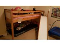 Mid sleeper bed with slide. URGENT