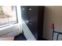 Black office storage cabinet