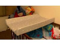 Baby top cot changer baby unit