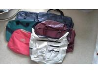 Six assorted Travel Bags (attic clearance). Some new.