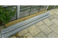 Concrete & wooden slotted fence posts