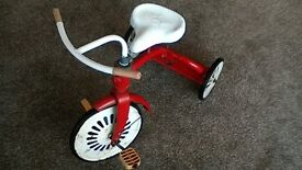 Retro 1960's Red metal Frame Childs Tricycle Ready for Christmas !