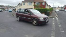 7 seats Vauxhall Zafira with long mot & recent new clutch , 1st to view will buy ,px welcome