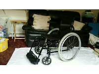 Quickie self propel folding adult wheelchair in excellent condition with extras