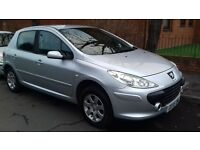 PEUGEOT 307 05REG LOW MILEAGE MOT TILL JUNE EXCELLENT CONDITION DRIVES REALLY WELL