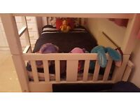 White Double bunk Bed and Chester Drawers