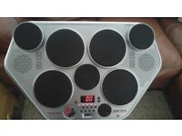 ELECTRONIC DRUM MACHINE AND STAND.