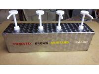 Deluxe Range Sauce dispenser 4 pump unit