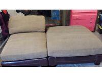hessian type sofa